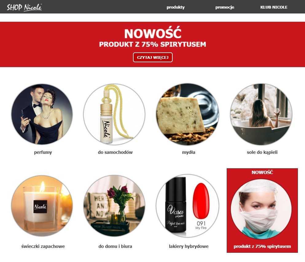 foto - print screen ekranu - www.sklep-nicole.pl